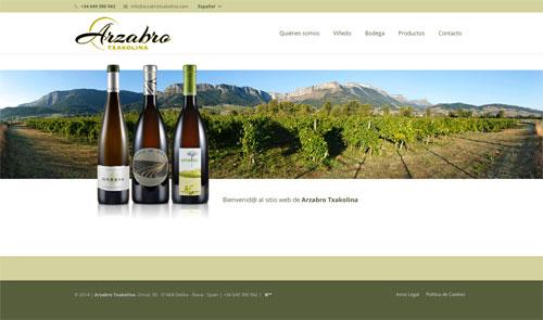 Sitio web: Bodegas Arzabro Txakolina