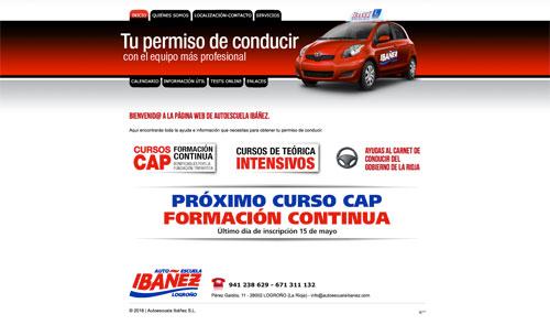 Sitio web: Autoescuela Ibáñez