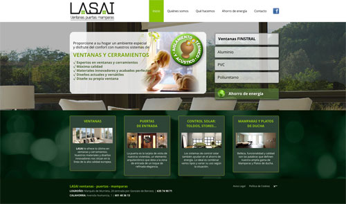 Sitio web: Lasai, Ventanas, Puertas, Mamparas