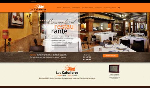 Sitio web: Restaurante Los Caballeros