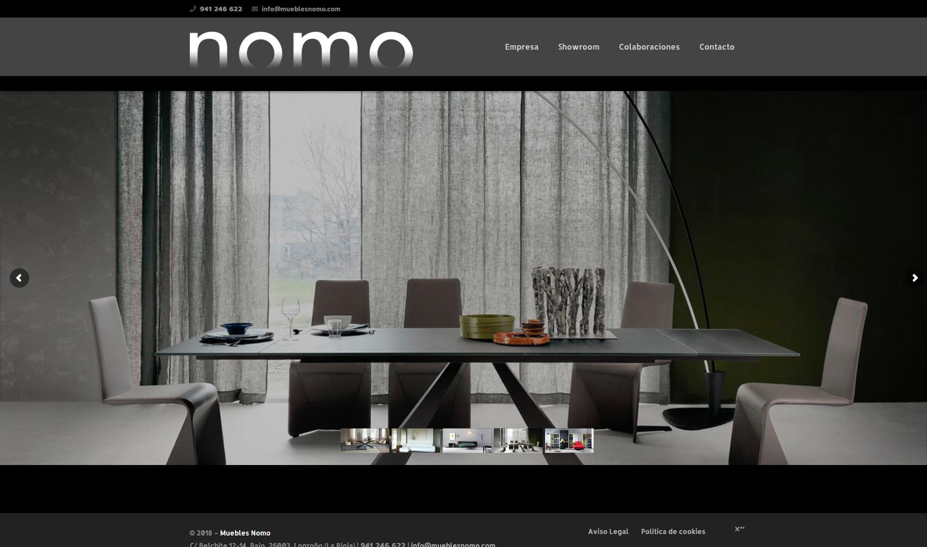 Sitio web: Muebles Nomo
